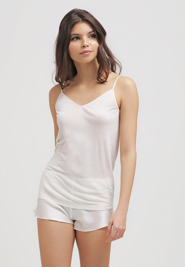 PURE SILK - Camiseta interior - pale cream