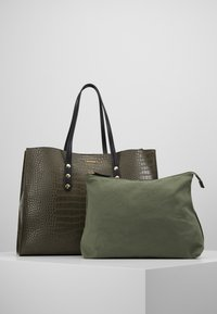 TWINSET - CROCO UNLINED - Tote bag - military - 5