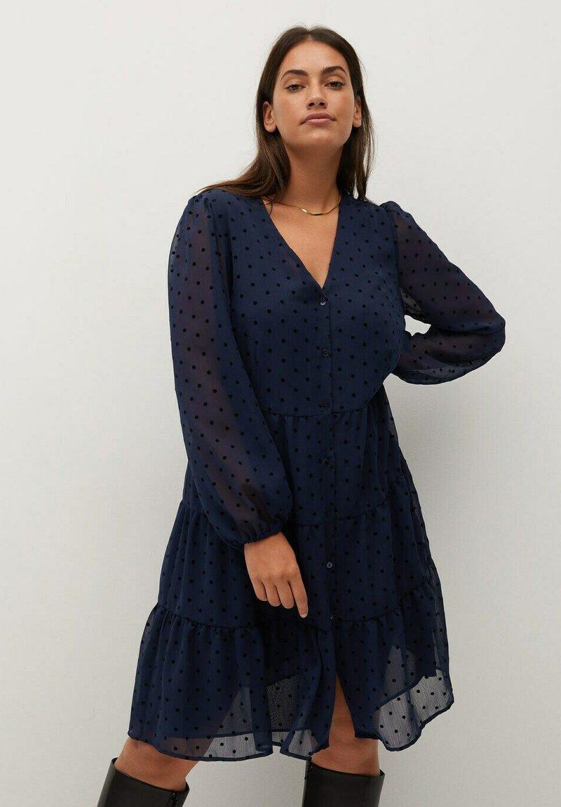 Violeta by Mango - CAPA - Day dress - dunkles marineblau