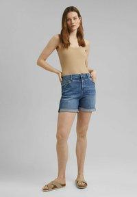 Esprit - Denim shorts - blue medium washed - 4