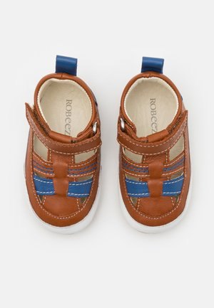 MINIZ - First shoes - beige/fonce bleu