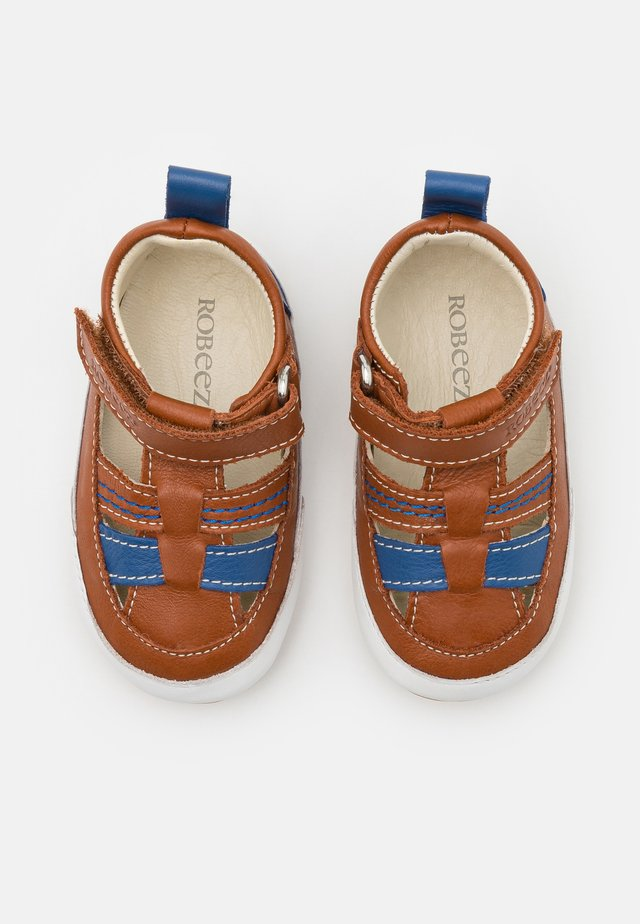 MINIZ - First shoes - beige/fonce bleu