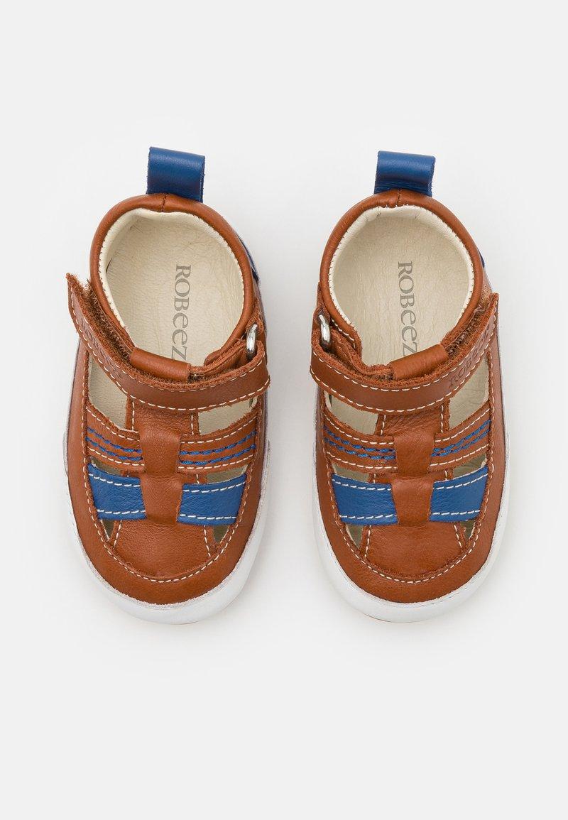 Robeez - MINIZ - First shoes - beige/fonce bleu
