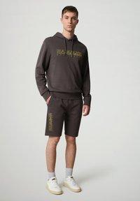 Napapijri - NALLAR - Shorts - dark grey solid - 1
