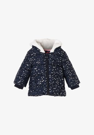 Winter jacket - dark blue aop