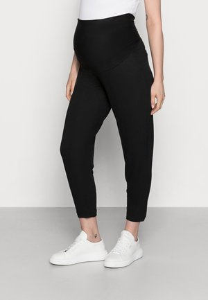 TROUSERS MOM JASMINE - Verryttelyhousut - black