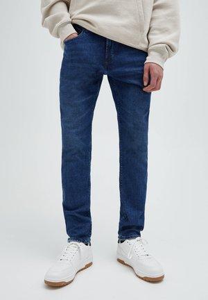 Džíny Slim Fit - mottled blue