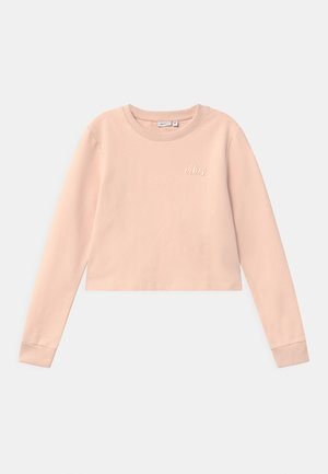 NKFTINTURN CROP - Mikina - peach whip