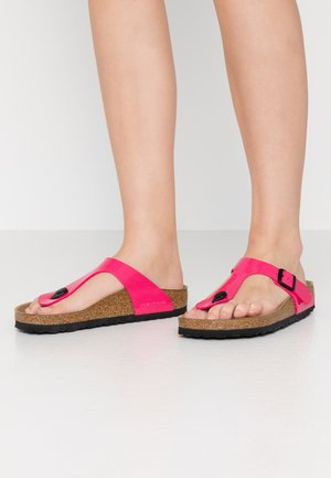 GIZEH - T-bar sandals - fuchsia tulip