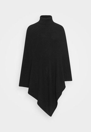 VIRIL ROLLNECK PONCHO  - Kapper - black