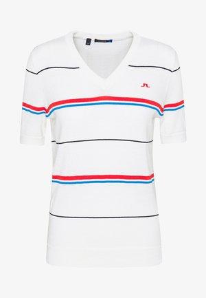 SELMA  - T-shirt med print - white