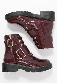 New Look - BUSY - Cowboy/biker ankle boot - dark red - 3