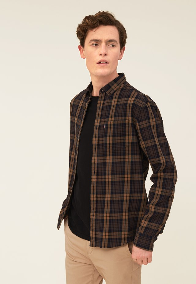 CLIVE - Shirt - brown multi check