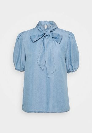 AMIRA BOW BLOUSE - Blůza - blue denim