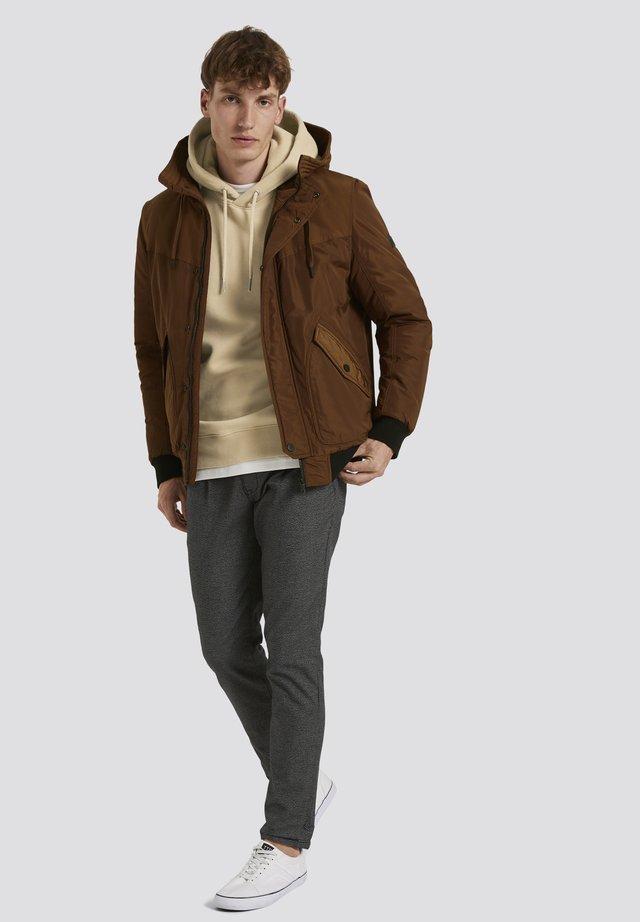 Winterjas - equestrian brown