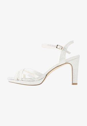 High heeled sandals - marfil