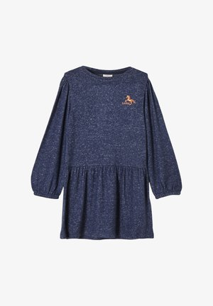 Jersey dress - dark blue melange