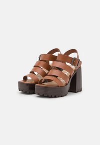 Emmshu - DITA - Korkeakorkoiset sandaalit - brown - 2