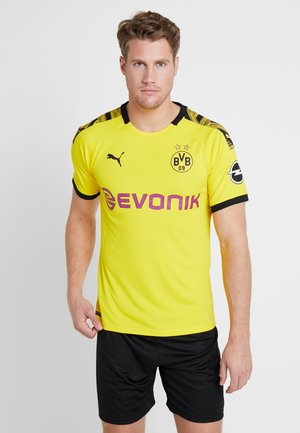 BVB BORUSSIA DORTMUND HOME AUTHENTIC WITH EVONIK WITH OPEL - Pelipaita - cyber yellow/black