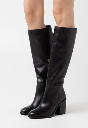 LONG BOOT - Boots med høye hæler - black