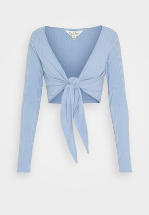 BALLET WRAP - Strickjacke - blue