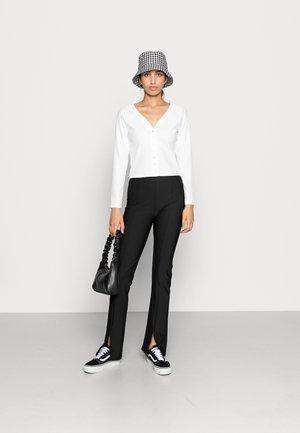 Cardigan - black/off white