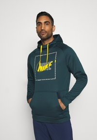 Nike Performance - Sweat à capuche - deep ocean/dark sulfur - 0