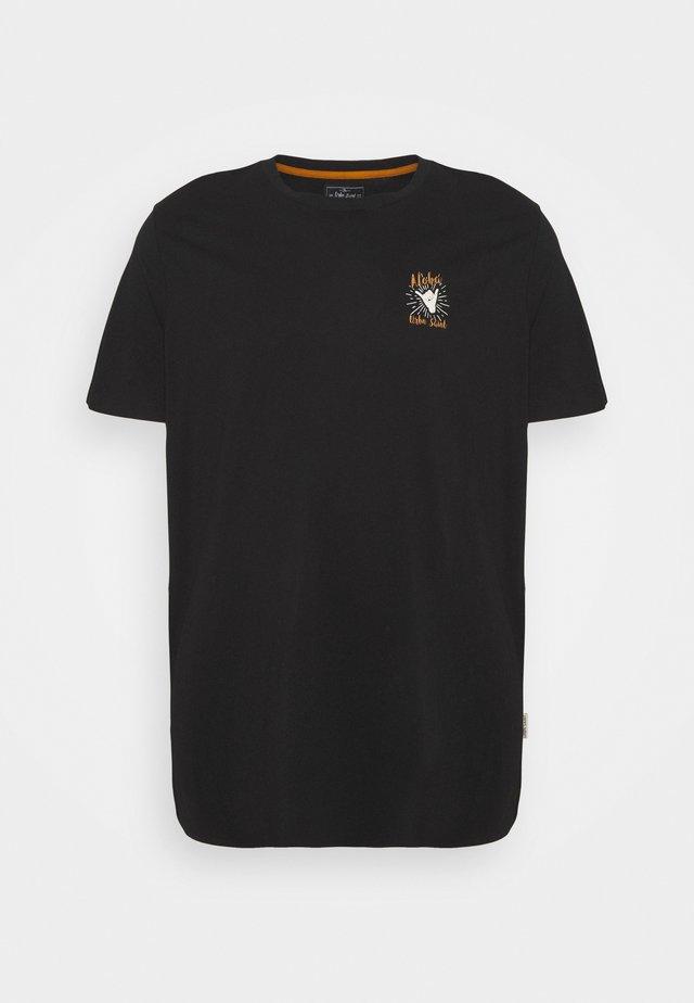 ROGER TEE - Print T-shirt - black