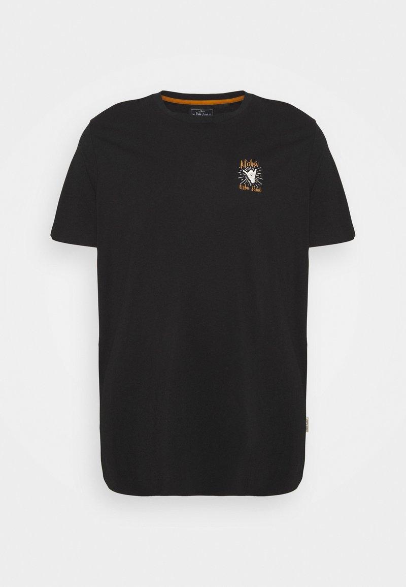 URBN SAINT - ROGER TEE - Print T-shirt - black