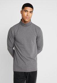 Only & Sons - ONSESSAY ROLLNECK TEE - Long sleeved top - dark grey melange - 0