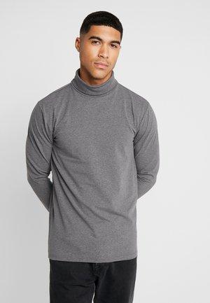ONSESSAY ROLLNECK TEE - Long sleeved top - dark grey melange