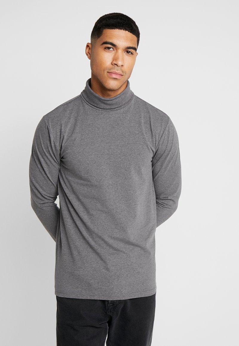 Only & Sons - ONSESSAY ROLLNECK TEE - Long sleeved top - dark grey melange