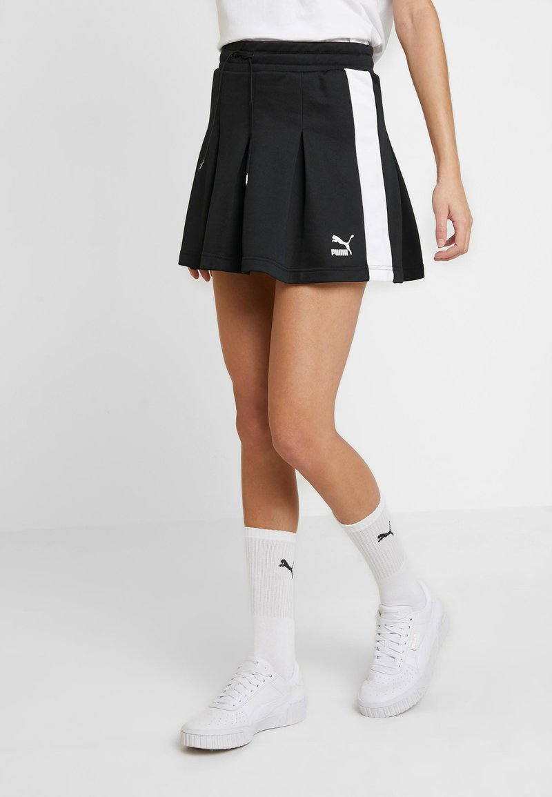 Puma - CLASSICS PLEATED SKIRT - A-line skjørt - black