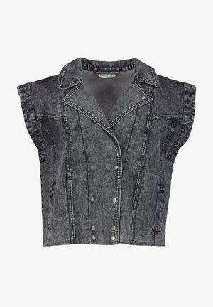 Waistcoat - grey denim