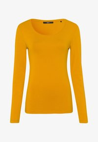 zero - MIT RUNDHALSAUSCHNITT - Long sleeved top - saffron - 4