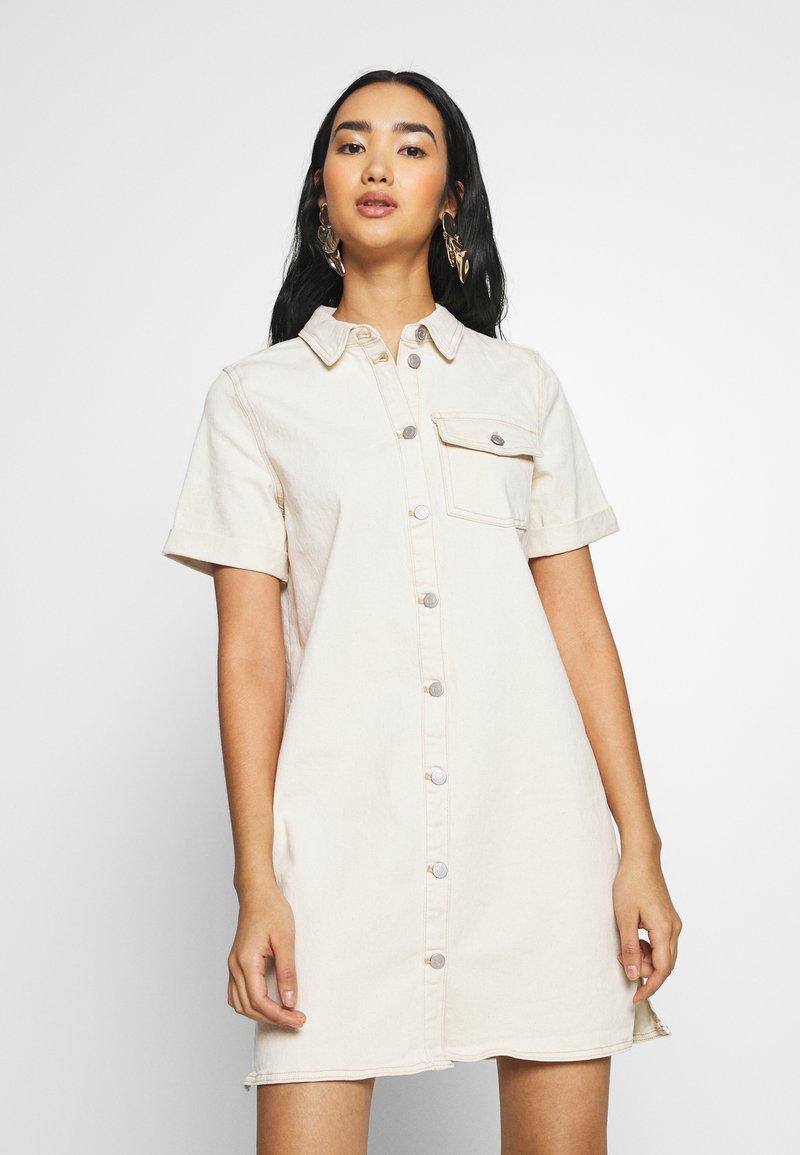 Vila - VIGLOVE DRESS - Denim dress - whisper white