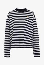 SCOTTY - Long sleeved top - dark navy/white