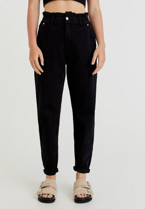 PAPERBAG - Jeansy Relaxed Fit - black