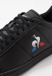 le coq sportif - COURTSET - Zapatillas - triple black - 5