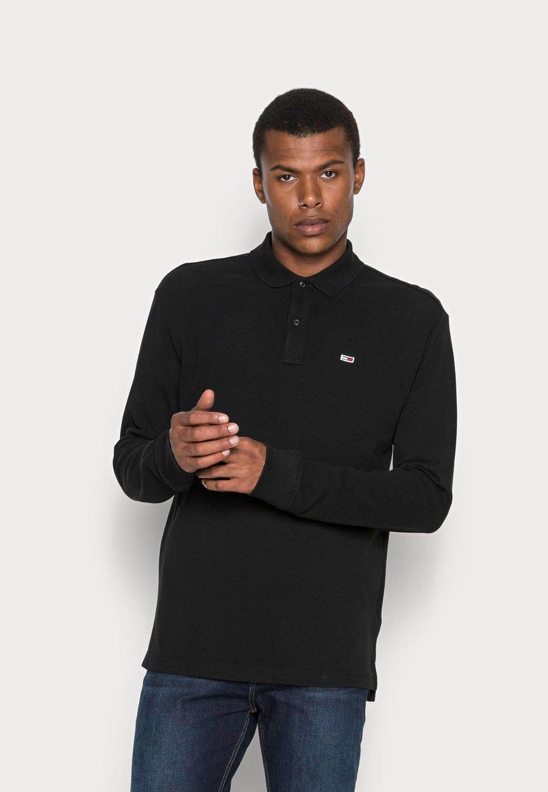 Tommy Jeans - CLASSICS LONGSLEEVE - Polo shirt - black