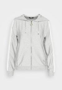 APERTA - Zip-up hoodie - grigio/silver
