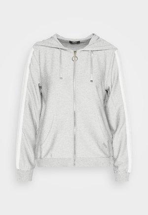 APERTA - Hoodie met rits - grigio/silver