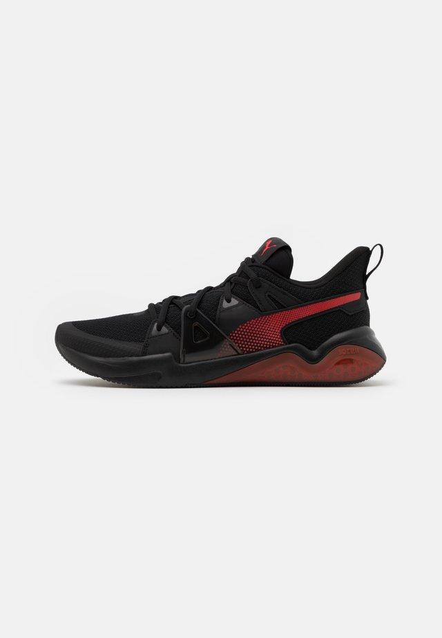 CELL FRACTION - Zapatillas de running neutras - black/high risk red