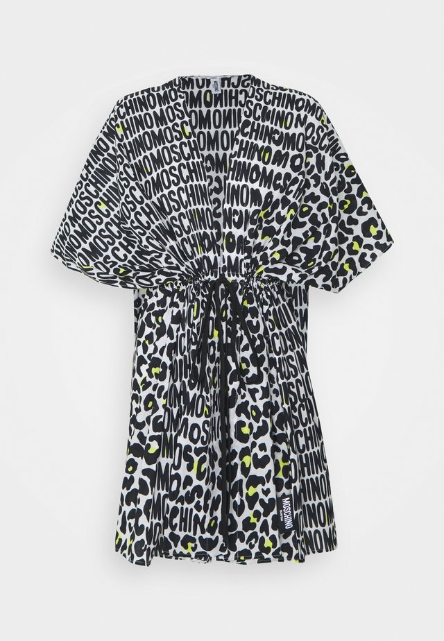 KAFTAN - Accessorio da spiaggia - black/white/yellow