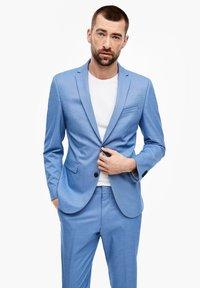 s.Oliver BLACK LABEL - MIT WEBSTRUKTUR - Suit jacket - blue - 0
