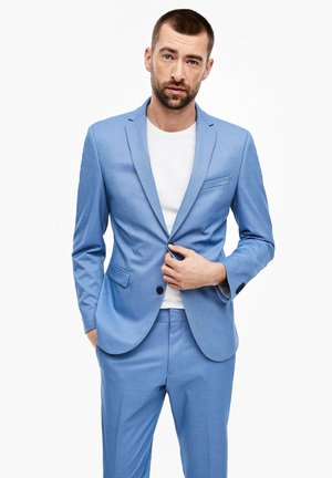 MIT WEBSTRUKTUR - Suit jacket - blue
