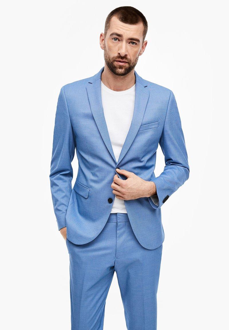 s.Oliver BLACK LABEL - MIT WEBSTRUKTUR - Suit jacket - blue