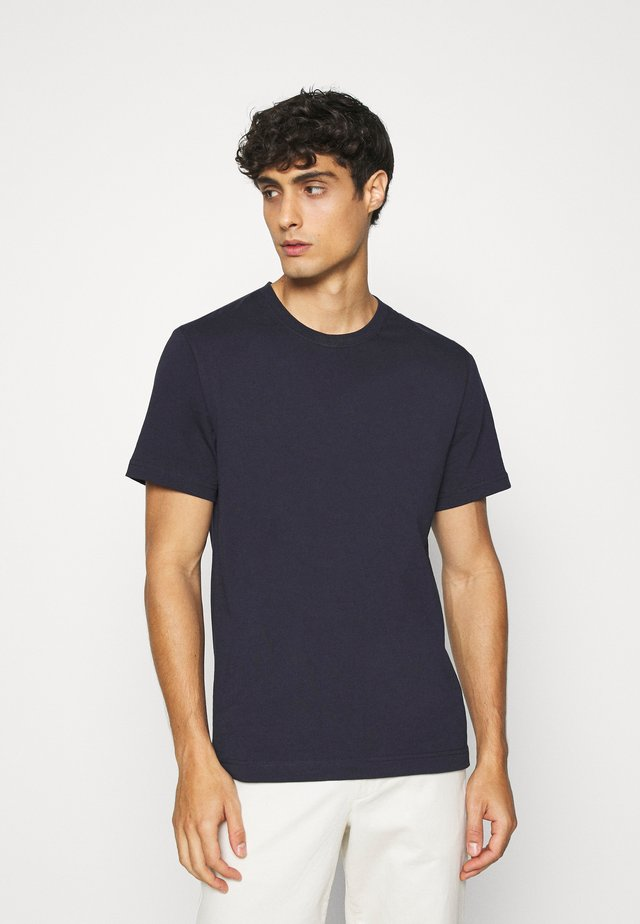 Basic T-shirt - blue medium dusty