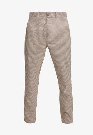 SLIM BARRO - Spodnie materiałowe - sepia