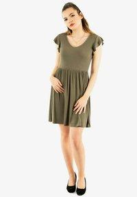 ONLY - Jersey dress - vert - 1